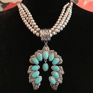 Faux Turquoise Necklace. Stunning